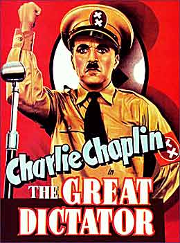 Charlie Chaplin in 'The Great Dictator'